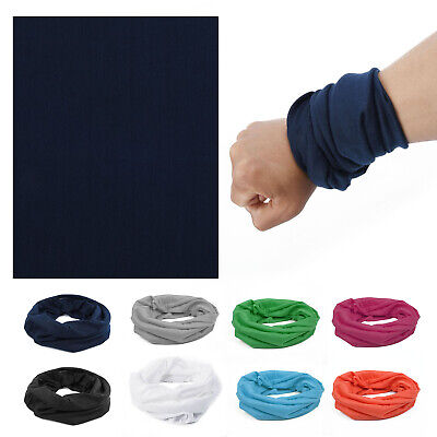 AU10.65 • Buy Cotton Sport Outdoor Plain Bandana Head Wrap Handkerchief Solid Color Scarf