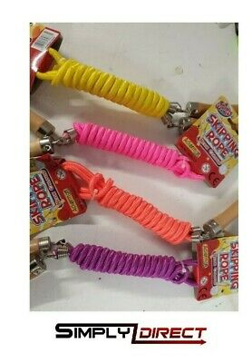 £3.99 • Buy Traditional Childrens Skipping Rope, Wooden, Cute Animal Or Neon Handle 200cm