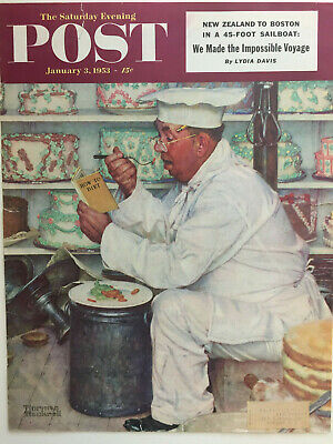$ CDN29.35 • Buy 1953 Saturday Evening Post COVER ONLY Norman Rockwell  The Baker