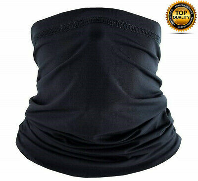 $7.88 • Buy Multi-use Tube Scarf Bandana Head Face Mask Neck Gaiter Outdoor Head Wear Black