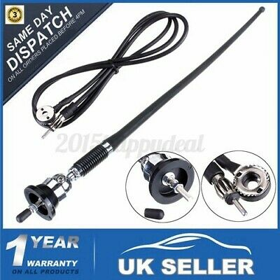 RMA305 Universal Car Stereo Radio Rubber Mast Wing Roof Antenna Aerial AM/FM • 6.89£