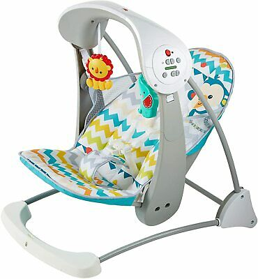 £49.99 • Buy Fisher-Price Colourful Carnival Take-Along 2-in-1 Swing & Seat Baby Bouncer -NEW