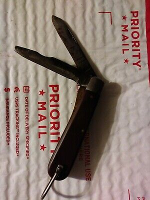 $11.69 • Buy Vintage M KLEIN & SONS Folding Electricians Pocket Knife CHICAGO USA  Two Blades