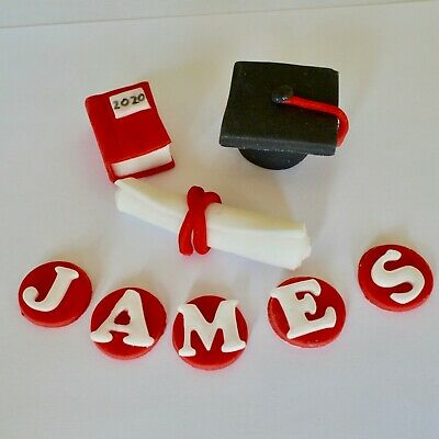 GRADUATION Cake Toppers University Personalised Edible Icing Decoration • 12.99£