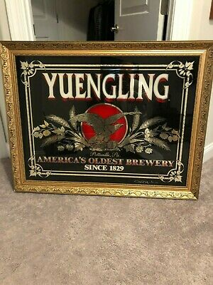 $160 • Buy Yuengling  Beer Large Mirrored Glass Beer  Advertising Sign