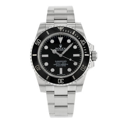 $ CDN10825.45 • Buy Rolex Submariner No Date Steel Black Dial Automatic Mens Watch 114060