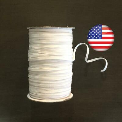 $ CDN34.89 • Buy Knit Elastic 180 Yards 4-5 Mm White Knitted Roll Bulk Wholesale Lot Stretchy WK5