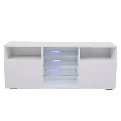 Modern 120cm TV Unit Cabinet TV Stand Sideboard Cupboard- High Gloss Doors LED • 119.71£