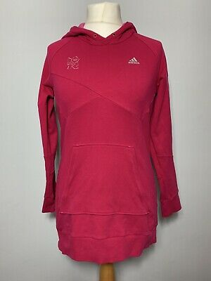 Adidas Team GB London 2012 Cotton Pink Pullover Adidas Hoodie Training Jumper 14 • 18.50£