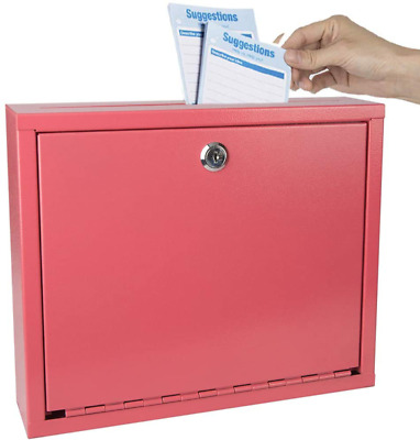 $25.99 • Buy Kyodoled Suggestion Box With Lock Wall Mounted,Mail Box, Key Drop Box Cards, Saf