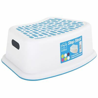 Wham Anti-Slip Step Stool Plastic Multi-Purpose Kid's Bathroom Kitchen - White • 6.13£