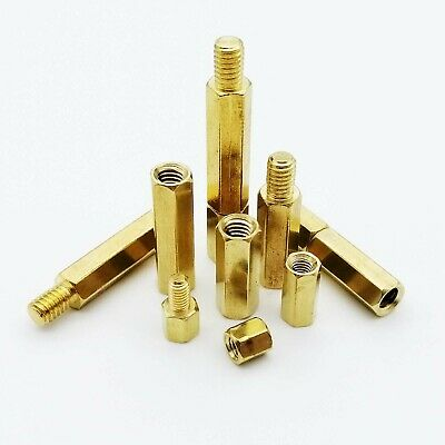 $2.79 • Buy M2M2.5 M3 M4 Solid Brass Copper Hex Standoff Support Spacer Pillar For PCB Board