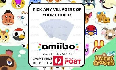 AU3.29 • Buy Animal Crossing New Horizons Villager Amiibo Card NFC NTAG215 (FREE POSTAGE)