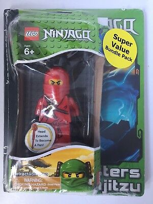 £6.08 • Buy Rare Lego Ninjago Red Retractable Pen And Pad Bundle Pack Ages 6+