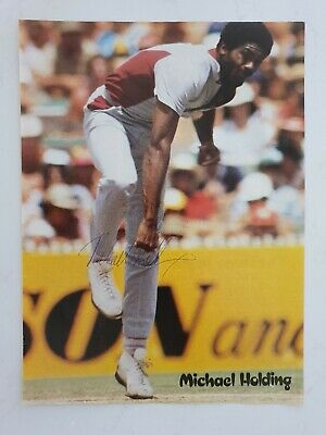 AU32 • Buy Michael Holding Signed A4 11.5 X 8.5 Inches Magazine Picture West Indies Cricket