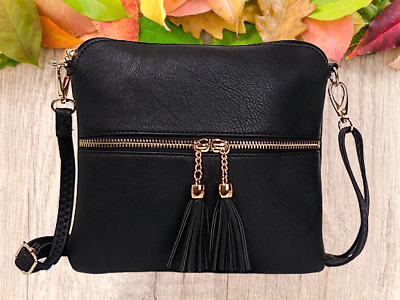 New Ladies Cross Body Messenger Bag Women Shoulder Over Bags Detachable Handbags • 7.95£