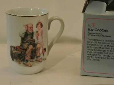 $ CDN24.12 • Buy Lot Of 4 Norman Rockwell Museum Collection Coffee Cups Mugs 24 Karat Gold Trim