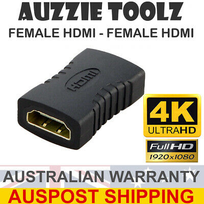 AU3.50 • Buy Black HDMI Female To Female F/F Coupler Adapter Changer Connector Joiner 1080P