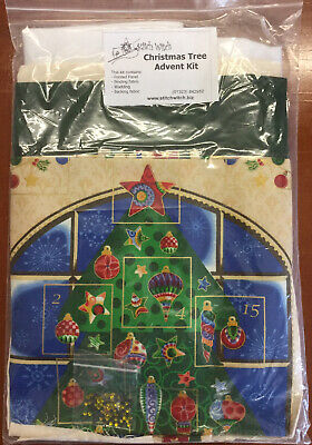 Christmas Tree Advent KIT Printed Panel Patchwork Quilting • 19.99£