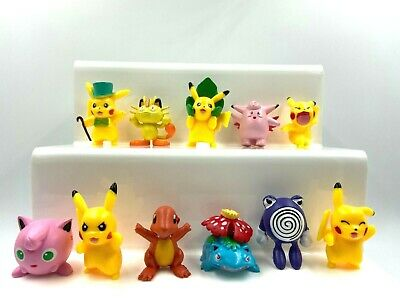 £11.99 • Buy Pokemon Pikachu Figures Toys Display Cake Toppers Kids Party Ash
