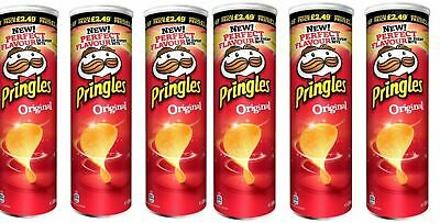 PRINGLES ORIGINAL PMP 200g X 6 [ Pack Of 6 ] FREE DELIVERY • 15.99£