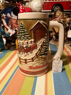 $ CDN14.39 • Buy Budweiser 1984  Holiday Stein.