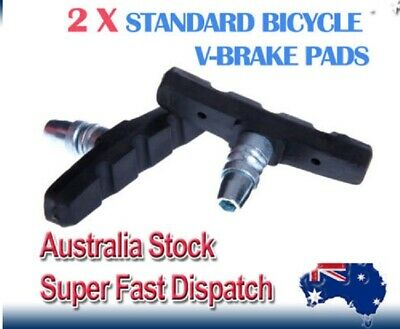 AU7.30 • Buy (Pair) STANDARD V-BRAKE PADS For Hybrid / Comfort / Mountain Bikes Bicycle