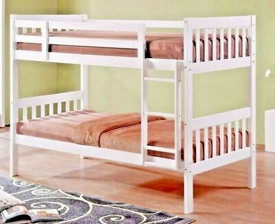 Lydia White Finished Hardwood Bunk With Or Without Trundle Guest Bed • 284.99£