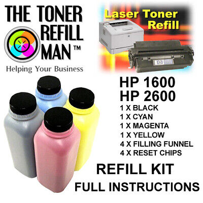 £42.75 • Buy Toner Refill For Use In HP 1600, HP 2600 Printers  BK,C,M,Y Compatible HP 124A