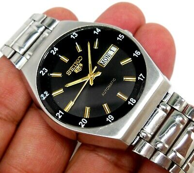 $ CDN76.02 • Buy Seiko 5 Automatic Classic Black Dial 24hrs Military Timing Men's  Watch 36mm
