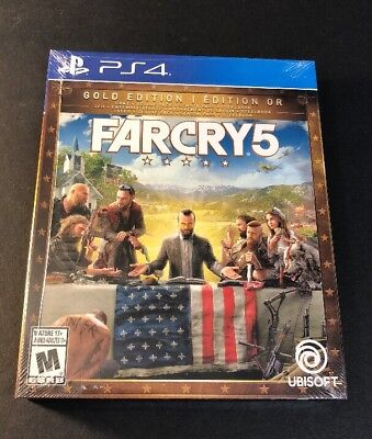 AU192.73 • Buy Far Cry 5 GOLD Edition [ Game + Season Pass + STEELBOOK Package ] (PS4) NEW