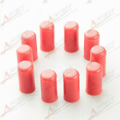10PCS 4mm Silicone Blanking Cap Intake Vacuum Hose End Bung Plug RED • 2.90£