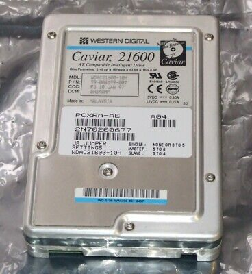AU60 • Buy WD Caviar 21600 1.6Gb IDE Hard Disk Drive For 486 Or Early Pentium Computer