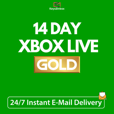 $ CDN3.40 • Buy Xbox Live Gold 14 Day Trial Membership Code - 2 Weeks - Instant Delivery