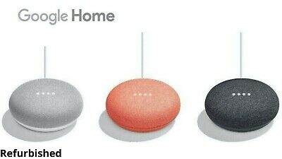 AU35.90 • Buy Google Home Mini Smart Speaker & Home Assistant - Chalk Aqua Coral - Us Plug