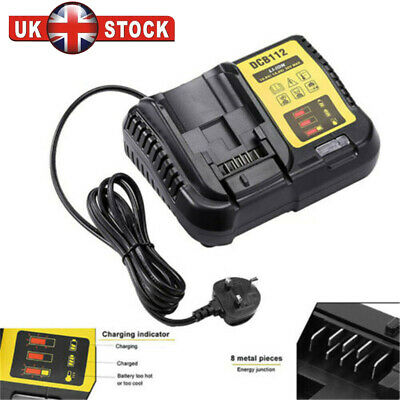 Battery Charger Lithium DCB112 Replace For Dewalt DCB118 DCB115 10.8V-20V Max 2A • 19.74£