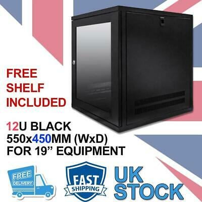 12U 19  450MM Network Cabinet Data Comms Wall Rack For Patch Panel, Switch, PDU • 114.03£