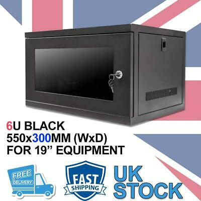 6U 19  300MM Network Cabinet Data Comms Wall Rack For Patch Panel, Switch, PDU • 74.99£