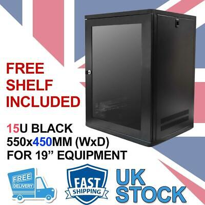 15U 19  450MM Network Cabinet Data Comms Wall Rack For Patch Panel, Switch, PDU • 152.99£