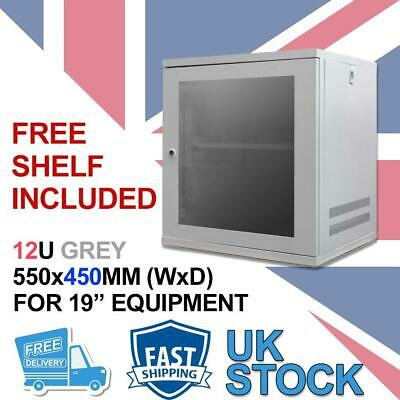 12U 19  450MM Network Cabinet Data Comms Wall Rack For Patch Panel, Switch, PDU • 99.99£