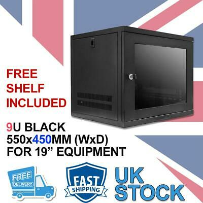 9U 19  450MM Network Cabinet Data Comms Wall Rack For Patch Panel, Switch, PDU • 94.99£
