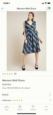 $ CDN150 • Buy Anthropologie NWT Hope For Flowers By Tracy Reese Monaco Midi Dress Size 4