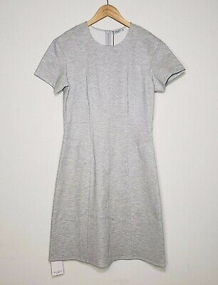 $ CDN187.94 • Buy MM Lafleur Coretta Dress Twill Ponte Light Heather Gray Size 14 $195 New