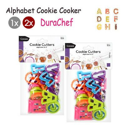 AU12.98 • Buy 1x / 2x DIY Biscuit Cake Mold Cutter Letters Alphabet Shape Mould Fondant Cookie