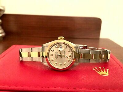 $ CDN6764.04 • Buy Rolex 79163 Stainless And 18k Gold Ladies Datejust Factory Diamond Dial B&P
