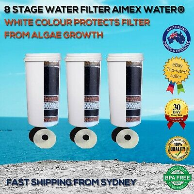 AU60 • Buy Aimex Water®8 Stage Water Filter Purifier KDF Algae Sunlight Protection White