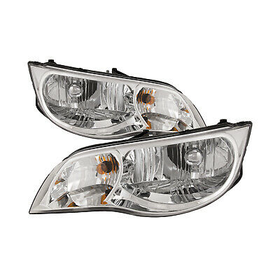 $105.45 • Buy Fits 04-07 Saturn Ion Coupe Headlights Headlamps Halogen Pair Se New