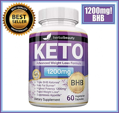 $16 • Buy KETO BHB Diet Pills - 1200mg Advanced Weight Loss Ketosis Supplement