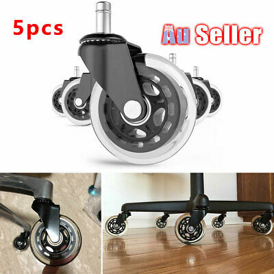 AU32.95 • Buy 5pcs Rollerblade Rolling Grip Office Caster Desk Ring Chair Wheels ACB#