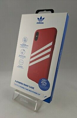 AU10.48 • Buy Adidas 3 Stripes Snap Case For IPhone X / XS - Black 5.8 Faux Leather Apple New